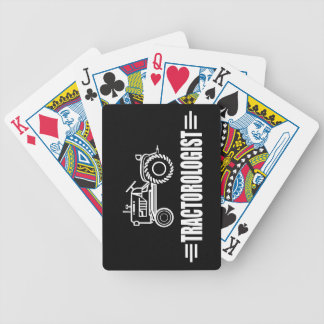 Funny Tractor Bicycle Playing Cards
