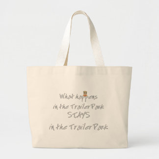 Funny Trailer Park Shirt Jumbo Tote Bag