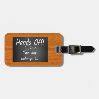 Funny travel hands off luggage luggage tag