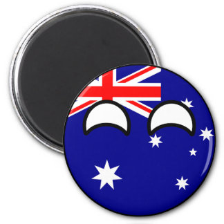 Funny Trending Geeky Australia Countryball Magnet