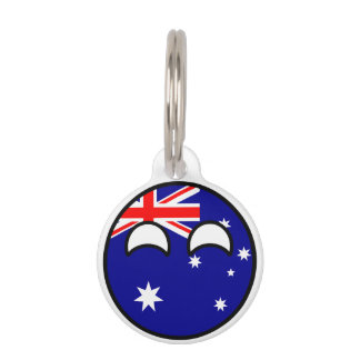 Funny Trending Geeky Australia Countryball Pet Tag