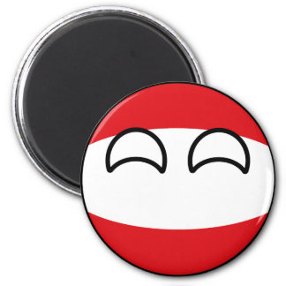 Funny Trending Geeky Austria Countryball Magnet