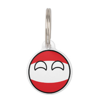 Funny Trending Geeky Austria Countryball Pet Tag