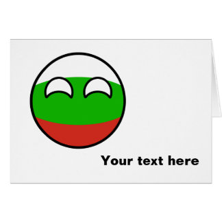 Funny Trending Geeky Bulgaria Countryball Card