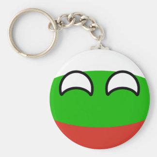 Funny Trending Geeky Bulgaria Countryball Keychain