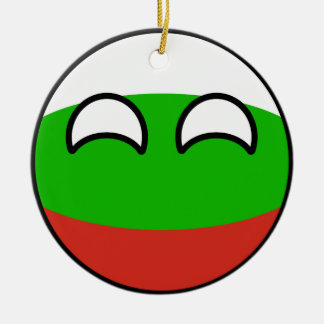 Funny Trending Geeky Bulgaria Countryball Round Ceramic Ornament