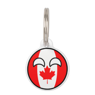 Funny Trending Geeky Canada Countryball Pet Tag