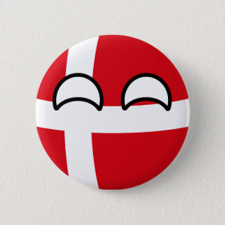 Funny Trending Geeky Denmark Countryball 2 Inch Round Button