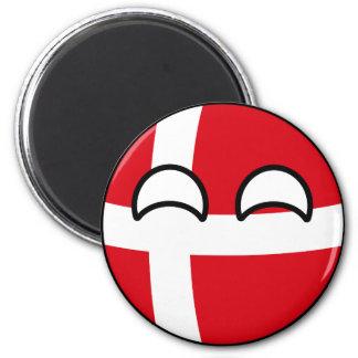 Funny Trending Geeky Denmark Countryball Magnet