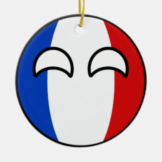 Funny Trending Geeky France Countryball Ceramic Ornament