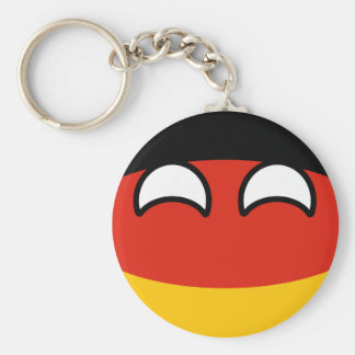 Funny Trending Geeky Germany Countryball Basic Round Button Keychain