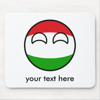 Funny Trending Geeky Hungary Countryball Mouse Pad