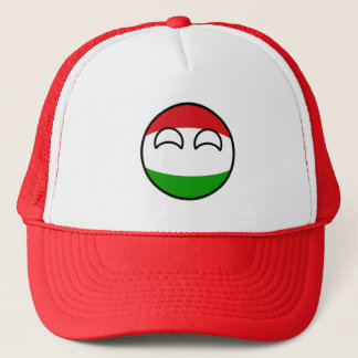 Funny Trending Geeky Hungary Countryball Trucker Hat