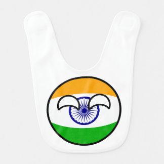 Funny Trending Geeky India Countryball Bib