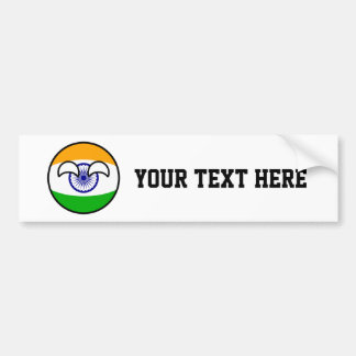 Funny Trending Geeky India Countryball Bumper Sticker
