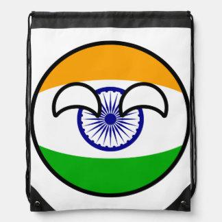 Funny Trending Geeky India Countryball Drawstring Bag