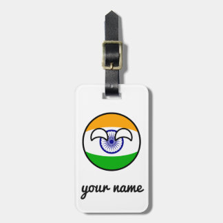 Funny Trending Geeky India Countryball Luggage Tag