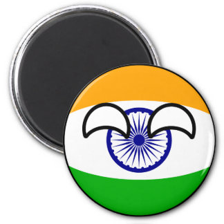 Funny Trending Geeky India Countryball Magnet