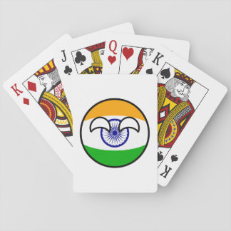 Funny Trending Geeky India Countryball Playing Cards
