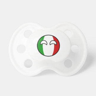 Funny Trending Geeky Italy Countryball Baby Pacifiers