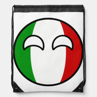 Funny Trending Geeky Italy Countryball Drawstring Bag