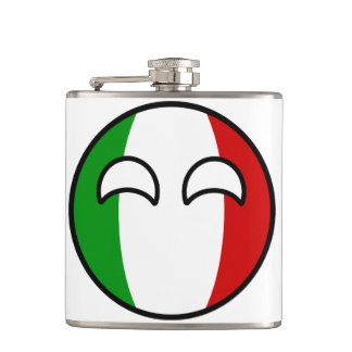 Funny Trending Geeky Italy Countryball Hip Flask