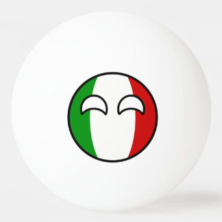 Funny Trending Geeky Italy Countryball Ping Pong Ball