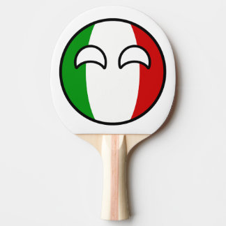 Funny Trending Geeky Italy Countryball Ping Pong Paddle