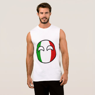Funny Trending Geeky Italy Countryball Sleeveless Shirt
