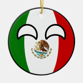 Funny Trending Geeky Mexico Countryball Ceramic Ornament