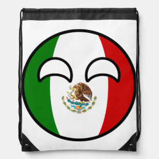 Funny Trending Geeky Mexico Countryball Drawstring Bag
