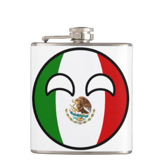 Funny Trending Geeky Mexico Countryball Hip Flask