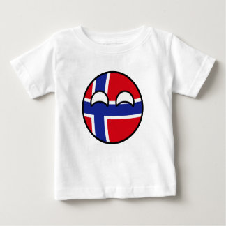 Funny Trending Geeky Norway Countryball Baby T-Shirt
