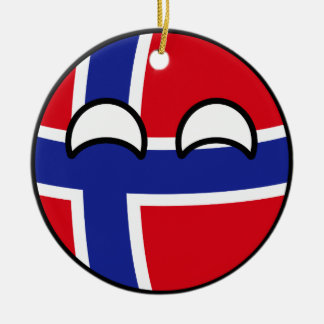 Funny Trending Geeky Norway Countryball Ceramic Ornament