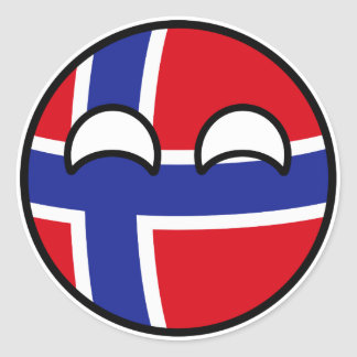 Funny Trending Geeky Norway Countryball Classic Round Sticker