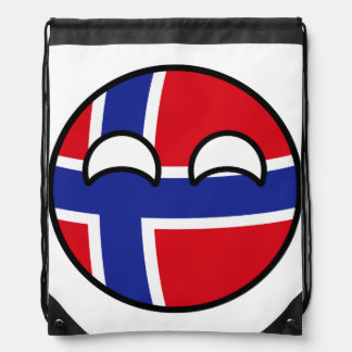 Funny Trending Geeky Norway Countryball Drawstring Bag