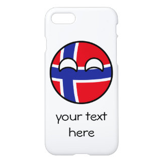 Funny Trending Geeky Norway Countryball iPhone 8/7 Case