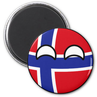 Funny Trending Geeky Norway Countryball Magnet