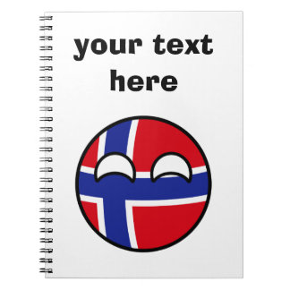 Funny Trending Geeky Norway Countryball Notebook