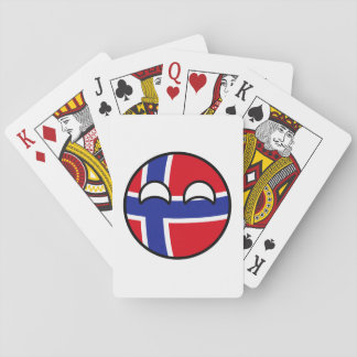 Funny Trending Geeky Norway Countryball Playing Cards