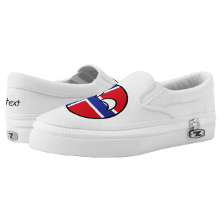 Funny Trending Geeky Norway Countryball Slip-On Sneakers