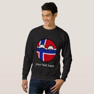 Funny Trending Geeky Norway Countryball Sweatshirt