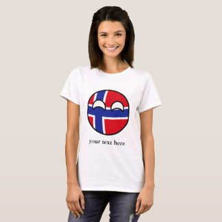 Funny Trending Geeky Norway Countryball T-Shirt