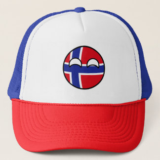 Funny Trending Geeky Norway Countryball Trucker Hat