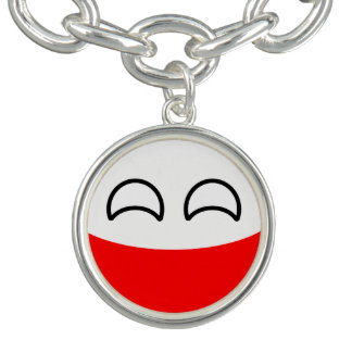 Funny Trending Geeky Poland Countryball Bracelet