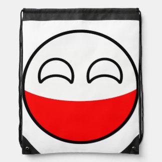 Funny Trending Geeky Poland Countryball Drawstring Bag