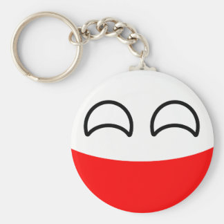 Funny Trending Geeky Poland Countryball Keychain