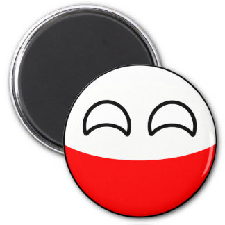 Funny Trending Geeky Poland Countryball Magnet