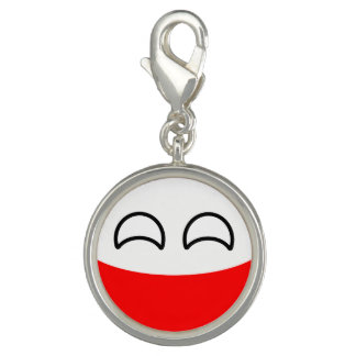 Funny Trending Geeky Poland Countryball Photo Charms