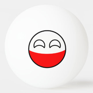 Funny Trending Geeky Poland Countryball Ping Pong Ball